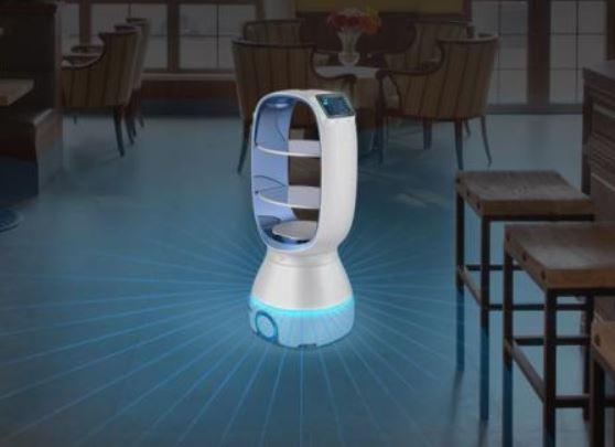 Este robot alimenta a los enfermos del coronavirus