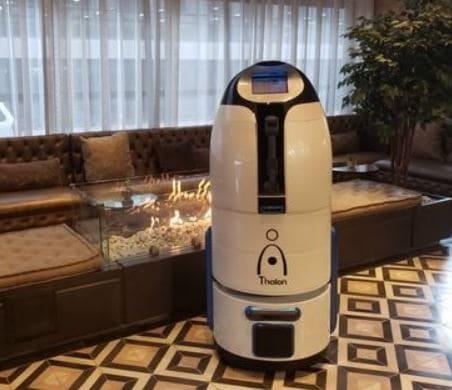 Robot camarero Thalon para hoteles y restaurantes