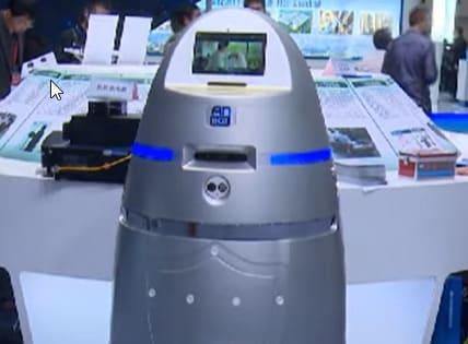 Androide Anbot, un vigilante en el aeropuerto chino